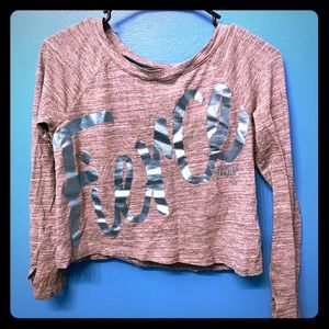 New Girl/'s SO Shirt Size 7 8 10 12 14 16 Sonoma Crop Top Sequin Long Sleeve Kid